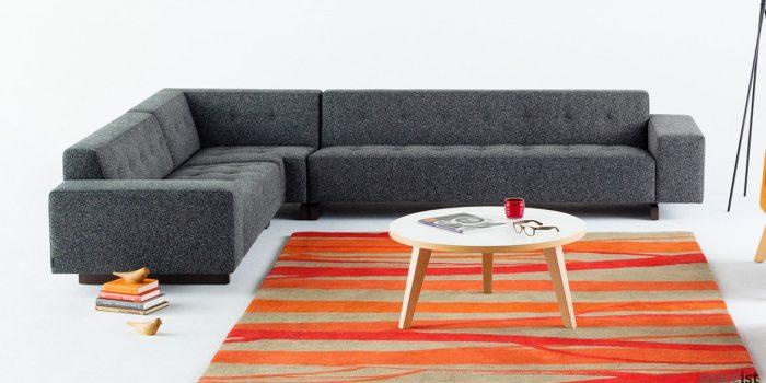 46 grey corner office sofa