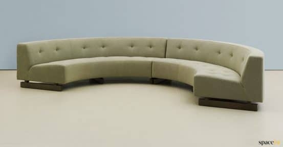 half circle office sofa in green