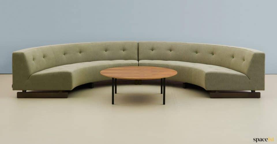 half circle sofa