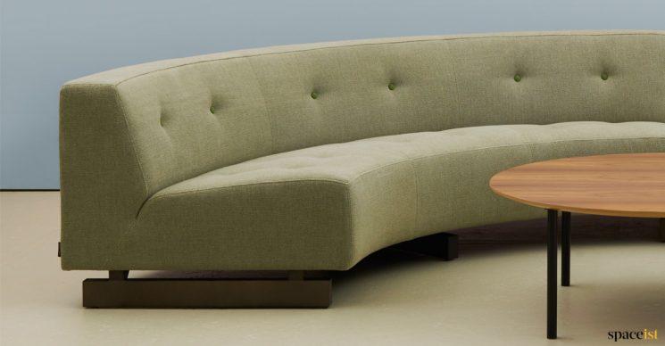 46 circle sofa closeup
