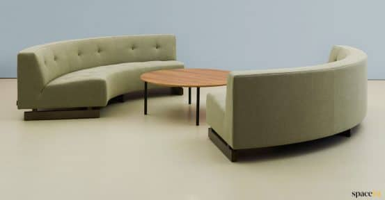 Quarter circle sofa