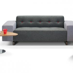46 offi ce sofa with red back buttons