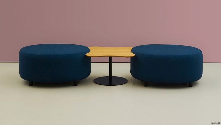 Round stool interconnecting table