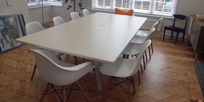 White 8 peron meeting table