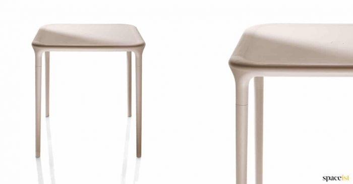 White stackable outdoor table