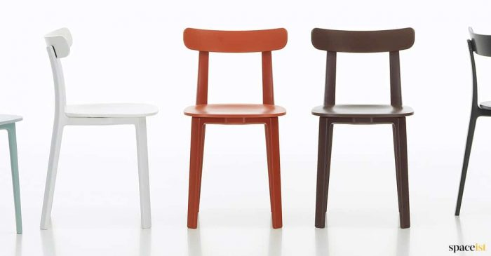 All cafe chair in red