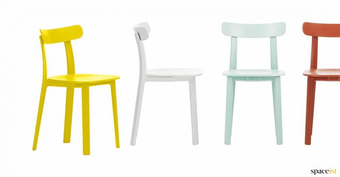 All Plastic Yellow Retro Cafe Chair ...