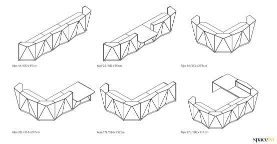 Alps angular CAD drawings 2