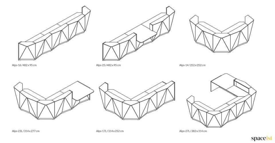 Alps angular CAD drawings 2