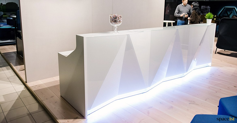 Reception Desks Alps Glass Desk Spaceist Reception