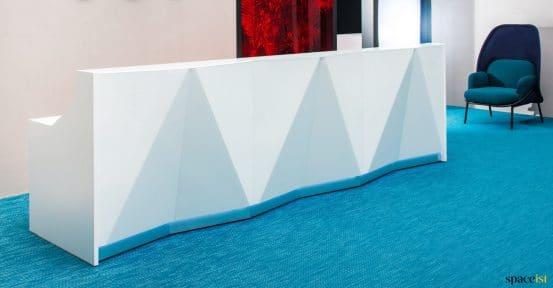 Alps long straight desk + gemetric front panel