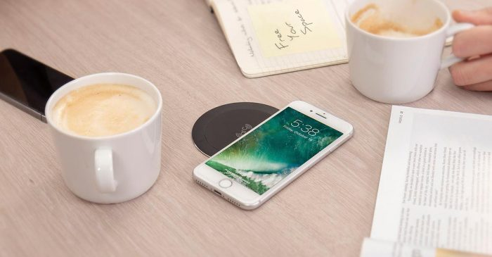 Wireless charger for desk