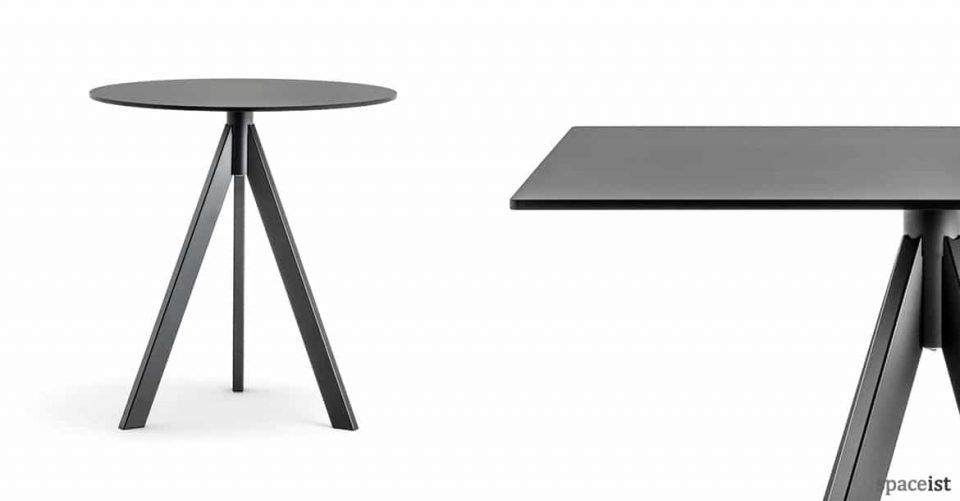 Ark black industrial style cafe table