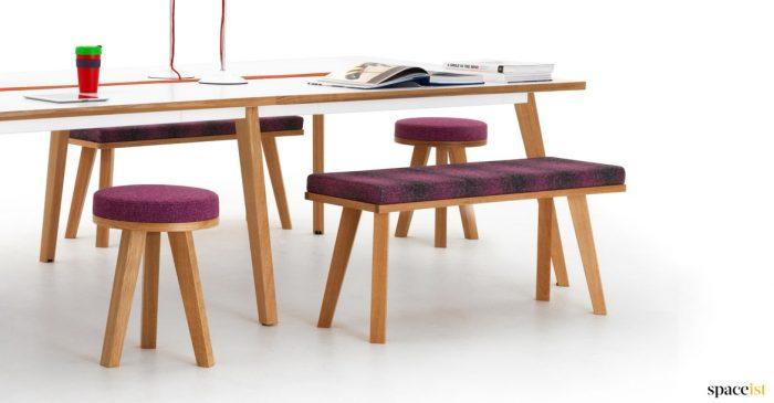 Art wood desk
