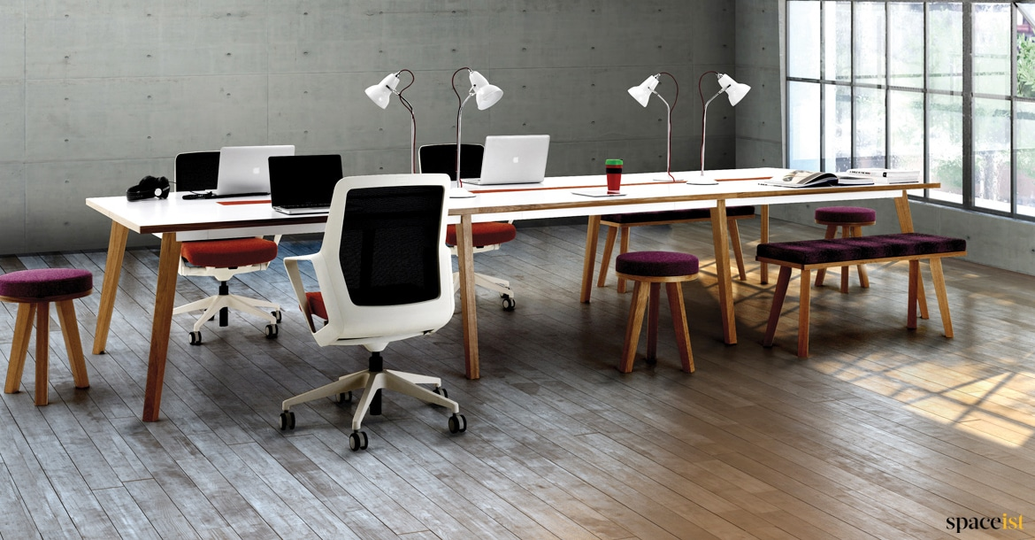 design office desks. White Desk With Solid Wood Legs Design Office Desks