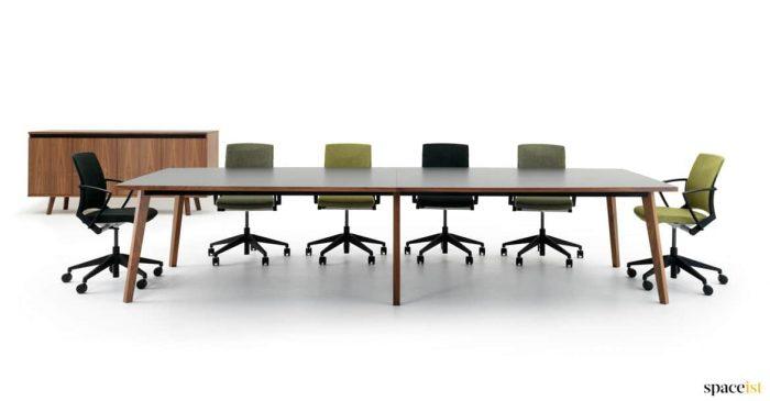 Walnut meeting room table