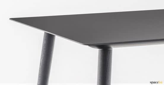 black table closeup