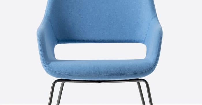 Babila blue chair closeup