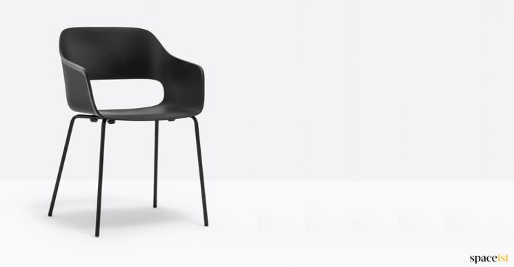 Black outdoor cafe chair