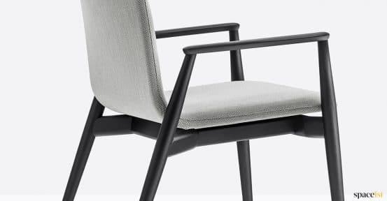 Cool black + grey reception seat