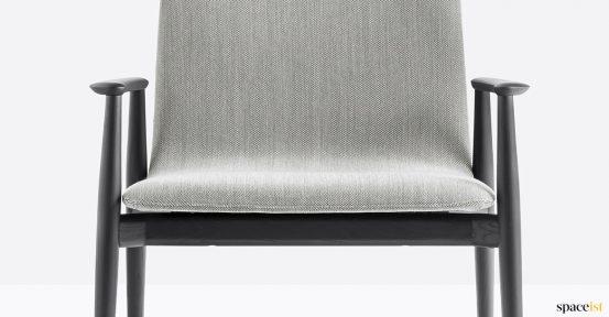 Grey + black wood reception chair 50's