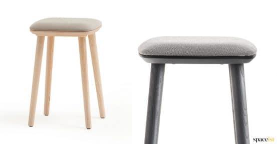 Babila ash + black low cafe stool