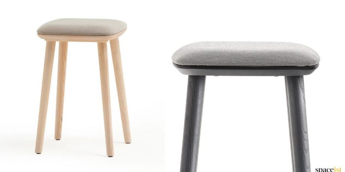 Babila ash + black low cafe stool