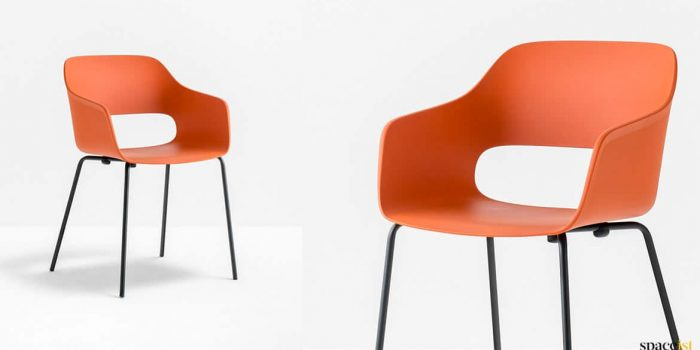 Orange + black meeting chair