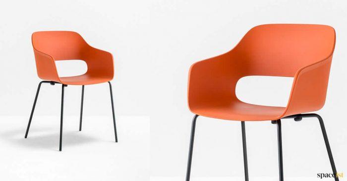Orange + black meeting chair