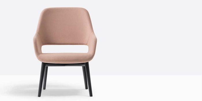 Pink chair closeup