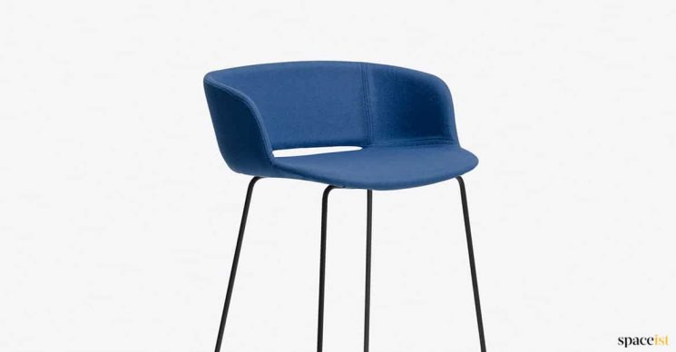 blue stool with back