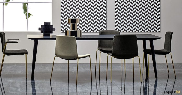 Stylish meeting table black