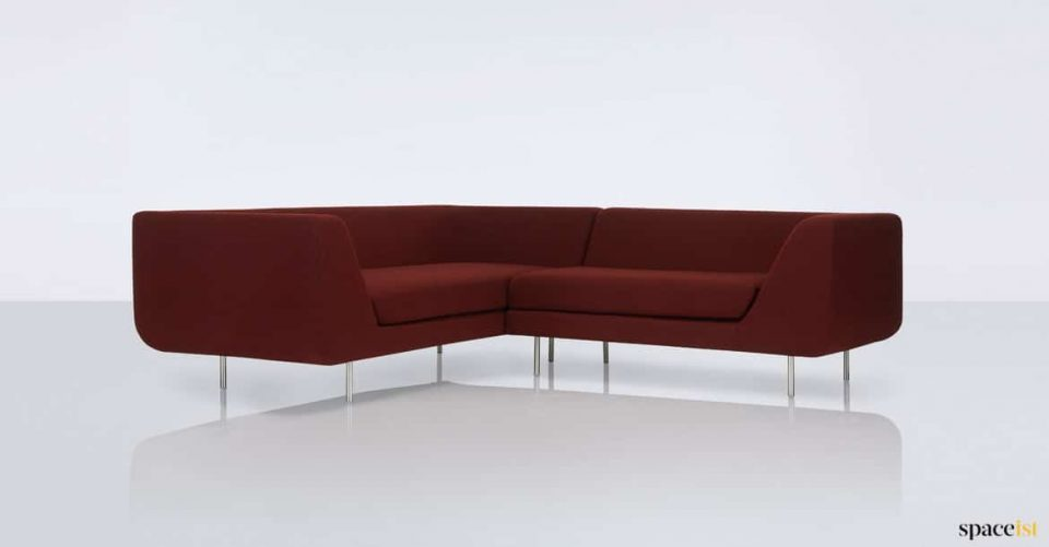 Bernard red corner sofa office