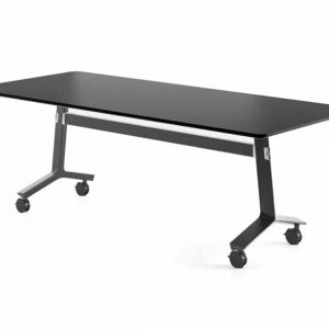 Blade folding table black base with black top