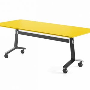 Blade folding table black base with yellow top