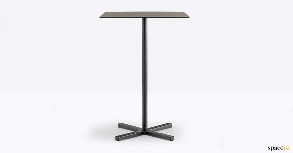 Tall black cafe table