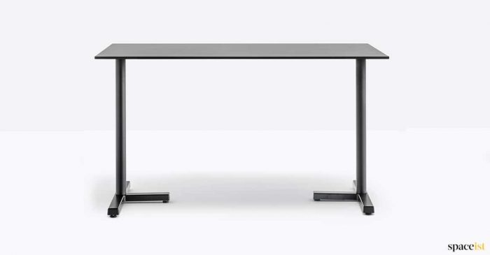 Cafe table in black with T-leg
