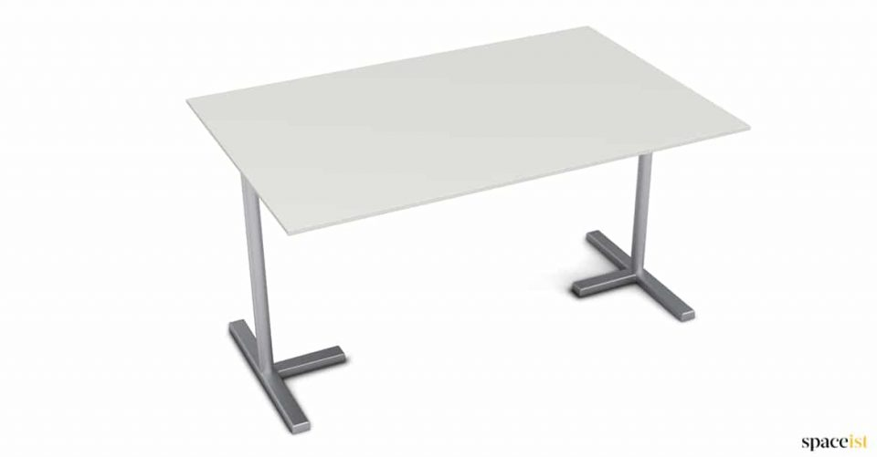 Silver + white push together dafe table