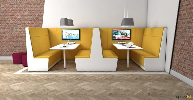 8 seater booth office