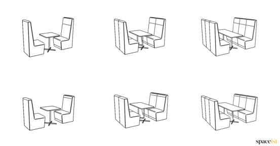 Booth seat drawings