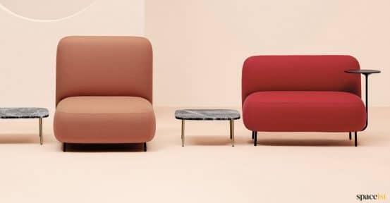 Red bubble art-deco sofa