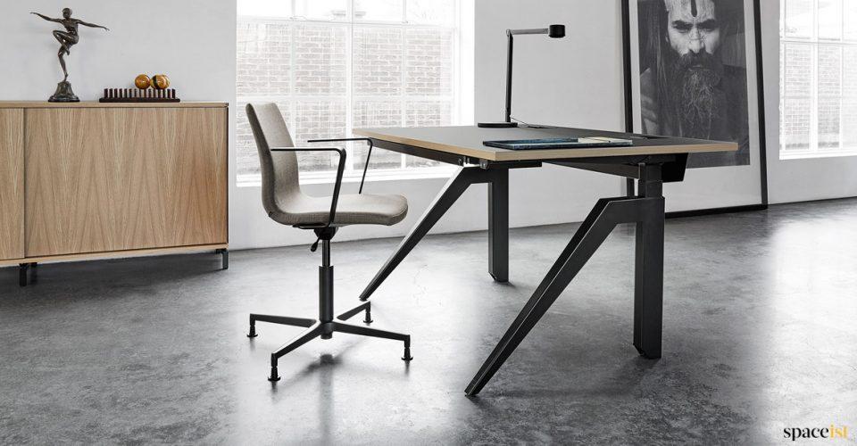 Cabale black standing desk