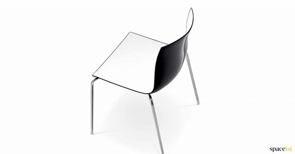 Black + white catifa chair
