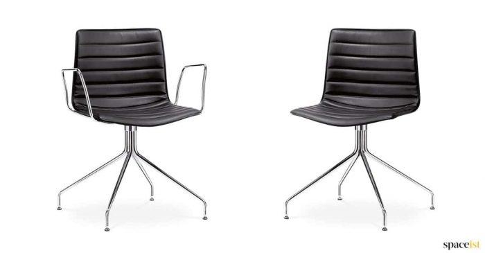 Catifa black leather meeting chair