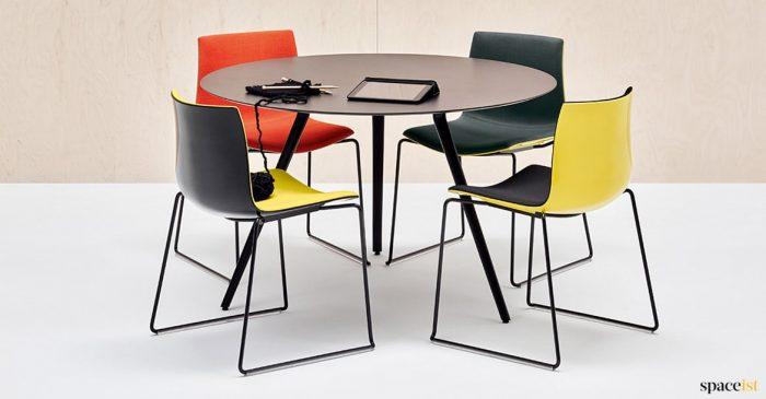 Catifa yellow + black chairs