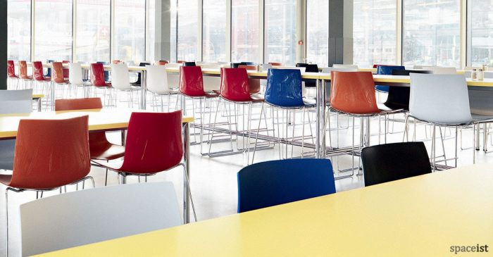 Catifa46 multi coloured cafe stools with back