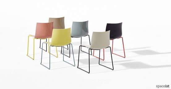Catifa46 chair with multi coloured legs