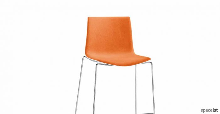 Catifa46 orange fabric bar stool