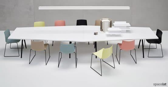 Catifa46 pastel blue pink brown yellow meeting chair