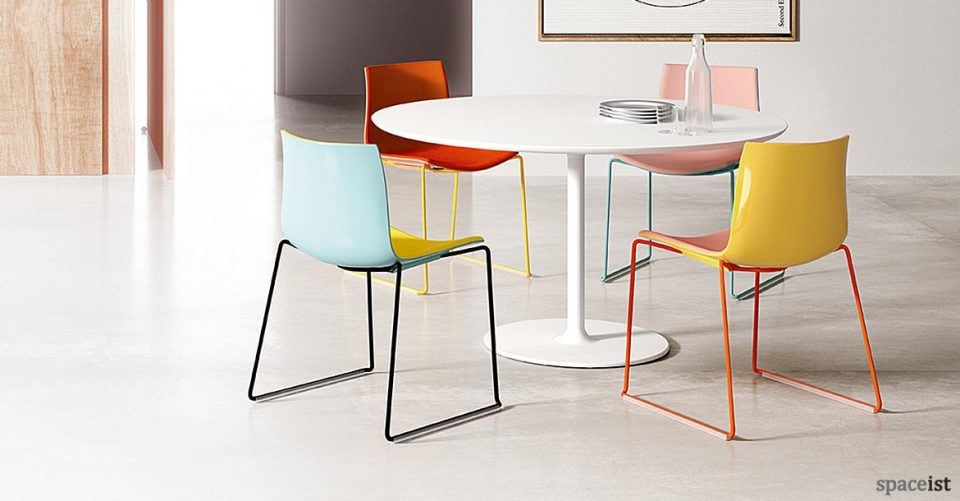 Catifa46 brightly coloured meeting room chair